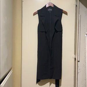 Express Knee Length Black Vest